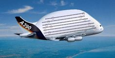 A3390 7 story jumbo jet of the future