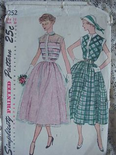 1950's-60's patterns Yep wore alot of dresses that looked like these that my mom made for us. She made all us girls clothes back then. It was cheaper back then.
