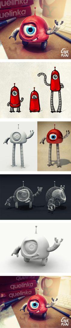 Linky  Mascot Design by Germán Benito, via Behance