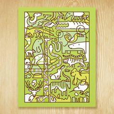 Animal Medley Print 11x14 from Shay Ometz and Jeff Barfoot co-founders of bee things $25.00 now featured on Fab.
