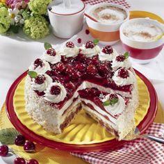 Kirsch-Torte mit Kokos Rezept   LECKER
