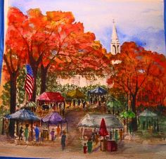 """""""Scituate Art Festival,"""" a watercolor by Marilyn Dube of Swansea"""