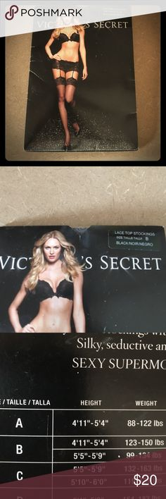 Victoria Secret Lace Top Stockings size B NWT These sexy stockings fit size B 4-11 through 5-4 123 to 150 lbs! Make an offer xox Victoria's Secret Other