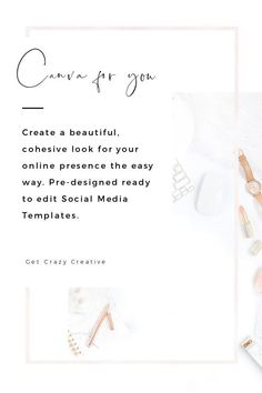 "Pre-designed ready to edit Social Media Templates.   That's where ""Canva for You"" comes in, these collections include the link to the Canva files. Simple change the templates to your liking, download and you are ready to share. #premade #socialmedia #graphics"