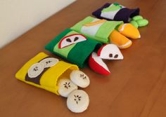 Felt Food Fruit Play Food Variety Pack Banana by BeesFeltMarket, $30.00
