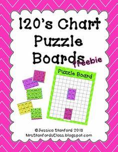 120 Chart Puzzle Freebie