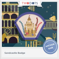 I built glorious structures on the beach and earned my Sandcastle Badge! - playtwo.do/ts #twodots