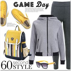 60 second style by jecakns on Polyvore featuring outfit, sport, sneakers…