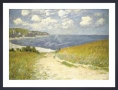 Claude Monet - Path through the Wheat Fields at Pourville, 1882 Art Print. Explore our collection of Claude Monet fine art prints, giclees, posters and hand crafted canvas products Claude Monet, Painting Frames, Painting Prints, Art Prints, Painting Canvas, Canvas Artwork, Monet Paintings, Landscape Paintings, Landscape Posters