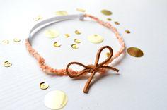 Sweet Peach halo headband #boho