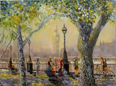 A Monet morning in London Town - Full-frontal image, unframed