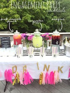 Throwing a Summer Engagement Party complete with cocktail recipes!