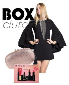 """""""The box clutch and bell sleeves"""" by ourdesignpages ❤ liked on Polyvore featuring Sephora Collection, women's clothing, women's fashion, women, female, woman, misses and juniors"""