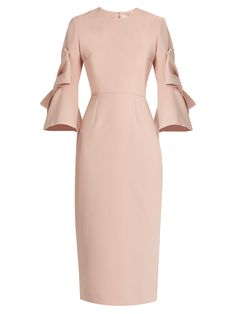 Lavete bow-sleeved crepe midi dress | Roksanda | MATCHESFASHION.COM UK