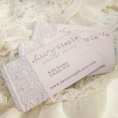Designer Custom Business. Chic Vintage Lace. Days Gone By on Etsy.