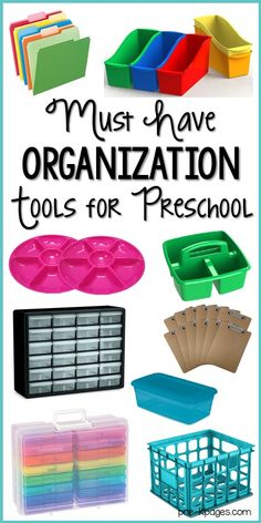 Must have teaching tools to help you organize your preschool, pre-k, or kindergarten classroom. A list of must have organization tools to help you organize your teacher life. Kindergarten Classroom Organization, Classroom Hacks, New Classroom, In Kindergarten, Classroom Storage Ideas, Toddler Classroom Decorations, Preschool Classroom Layout, Preschool Decorations, Apple Classroom