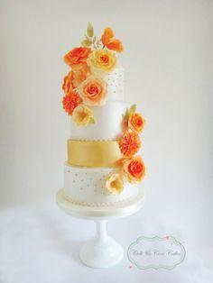 Dahlia Rose Wedding Cake