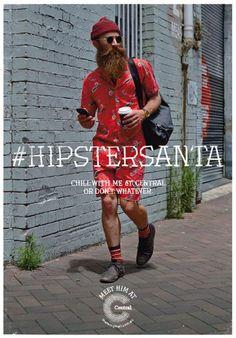 'Hipster Santa': The Contemporary Christmas Icon To Promote A Shopping Mall - DesignTAXI.com