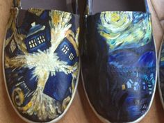 Dr. Who Van Gogh & Starry Night shoes. $122.00, via Etsy.