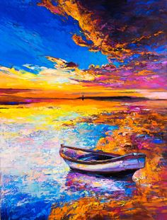What is diamond painting ?Come to visit Diamond Painting ZSJ! Modern Art Paintings, Colorful Paintings, Seascape Paintings, Leonid Afremov Paintings, Abstract Canvas Art, Oil Painting On Canvas, Diy Painting, Painting Classes, Landscape Art