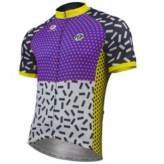 Pop 6 Cycling Jersey by Katherine Hall Men's | Artist-Inspired Cycling Apparel | Pactimo  > Pactimo Design Example
