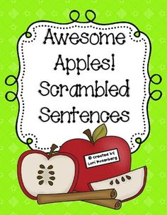 Students need lots of practice writing proper sentences. Just print, laminate, and cut out the sentence cards. Have the children sort the cards, put them in order to make sentences, and write them neatly in their booklet. Another option is to have them write the sentences on lined paper, which is included. There are 6 sentences to unscramble, a booklet to write the sentences (colored and black and white version) and lined paper.