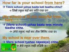 Part 1. Nepali Language - Basic Sentences (with stroke order worksheet in pdf). - YouTube