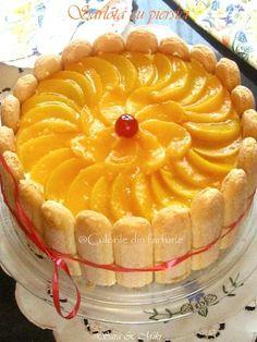 sarlota-cu-piersici-2 Food Cakes, Tiramisu, Cake Recipes, Pie, Cookies, Ethnic Recipes, Desserts, Charlotte, Pies