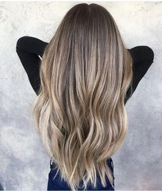 Super Long Ashy Blonde Balayage - Brunette to Blonde - Highlights - Lowlights - Ash Blonde - Perfect Hair Balayage Hair Brunette Long, Balayage Hair Caramel, Hair Color Balayage, Hair Highlights, Ashy Balayage, Ashy Blonde, Light Ash Blonde, Natural Ash Blonde, Hair Videos