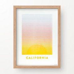 The Weekend Press: California Sunset No. 1, letterpress print, 9x12, unframed