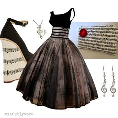 music-themed outfit