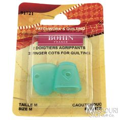 Finger Cots - Medium (2 count) Rubber Thimble - Bohin