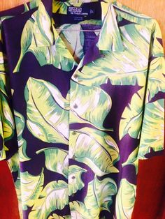 "Luxury Vintage Store (Clothing & Accessories): Polo Ralph Lauren Mens ""Leaf"" Rayon Button Up Shir..."