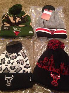 Chicago bulls beanie by 1ofakindsnapbacks on Etsy, $20.00