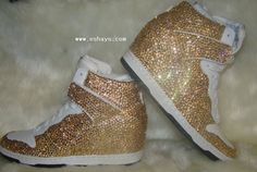 on sale e5e9c 33f5a Custom Champagne Topaz Nike Wedges Buy Sneakers, Wedge Sneakers, Sneakers  For Sale, Sneakers