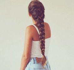 peinado en cabello largo trenza