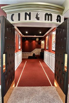 Does it get any better? | Media Room | Theater Seating | HD Projector | Concession Stand  pathwayhomes.com