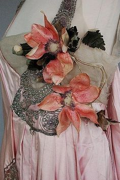 House of Worth Gown Bodice (Detail).