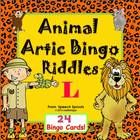 Articulation, Riddles, Animals too!  Target everyone's speech therapy goals at once with Animal Bingo Riddles L! For 1-24 players.  Guess the riddl...