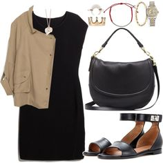 A fashion look from January 2015 featuring MANGO dresses, Zara jackets and Givenchy sandals. Browse and shop related looks.