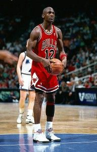 Michael Jordan wearing the Air Jordan V