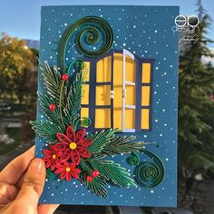 Window Cards, Indian Bridal, Postcards, Origami, Christmas, Handmade, House, Quilling, December