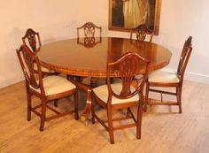 Regency Round Dining Table Set Prince of Wales Chairs Suite