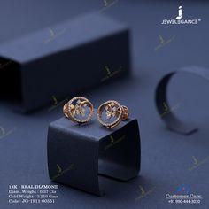 Real Diamond Earring jewellery for Women by jewelegance. Jewelry Design Earrings, Gold Earrings Designs, Ear Jewelry, Small Earrings, Gold Ring Designs, Gold Jewelry Simple, Trendy Jewelry, Real Diamond Earrings, Diamond Tops