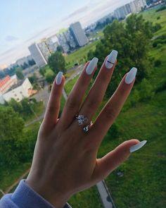 nails nails nails nails for teens fall 2019 fall autumn fake nails nails natural Acrylic Nails Kylie Jenner, Acrylic Nails Coffin Short, White Acrylic Nails, Best Acrylic Nails, White Nails, Acrylic Summer Nails Almond, Almond Gel Nails, Coffin Nails Kylie Jenner, White Coffin Nails