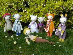 lalylala family made by Mariage de Miaulette et Nougat / crochet patterns by lalylala