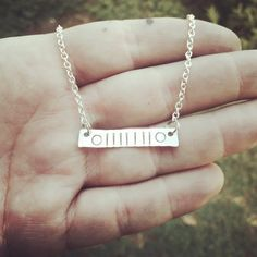 Jeep Grill bar necklace