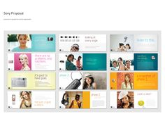 Sony Proposal Booklet by TheRyanFord on deviantART Web Ui Design, Page Design, Layout Design, Graphic Design, Booklet Layout, Booklet Design, Editorial Layout, Editorial Design, Publication Design