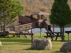 Playground at Meacham Lake Campground - NYSDEC Campgrounds