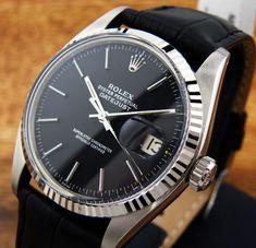 Vintage Rolex Oyster Perpetual Datejust black dial | juwelier-haeger.de